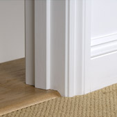 Detail of Solid Oak Ramp fitted to carpet.