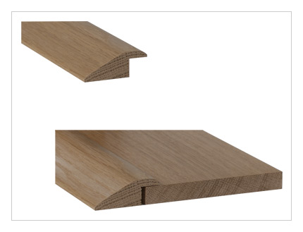 Solid oak 15mm rebate 'R' section