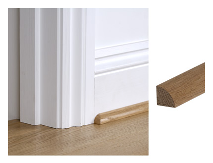 Solid oak 19mm x 19mm quadrant architectural joinery for Floor quadrant