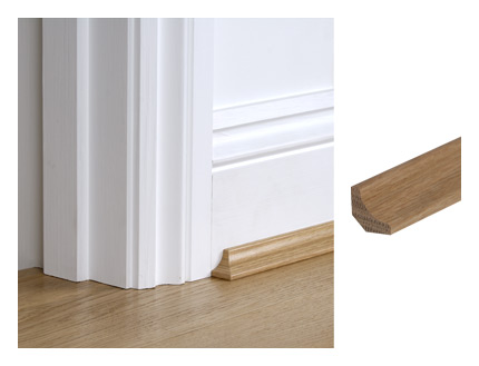 Solid oak 19mm x 19mm scotia moulding