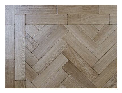 Antique oak parquet