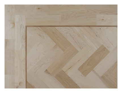 Rustic maple parquet