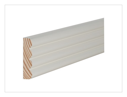 Pine reeded architrave