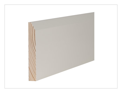 Pine chamfer skirting board