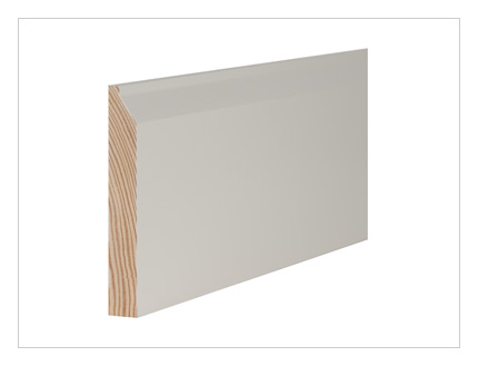 Pine contemporary skirting board