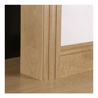 Solid oak architraves