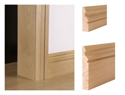 Solid oak ogee architrave and skirting board