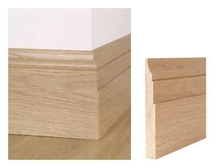 Solid oak berkeley skirting board